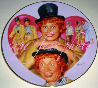 Love Lucy Meets The Stars Lucy Harpo Marx Plate