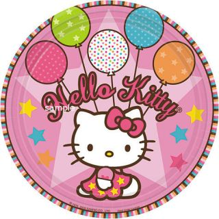 Hello Kitty Edible Cake Image Topper Round