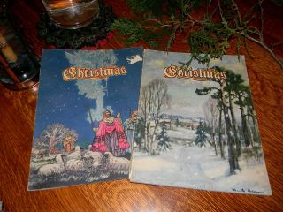 Vtg Books An American Annual Christmas Literature and Art Poems