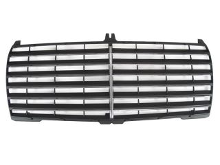 W124 E Class S600 Black Front Grille Grill with Chrome Trims