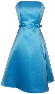50s Strapless Satin Formal Bridesmaid Prom Dress Holiday