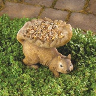 Woodland Squirrel Birdfeeder Bird Seed Outdoor Yard Animal Garden
