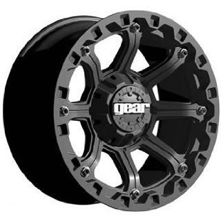 Gear Alloy Black Jack 16x8 Black Wheel / Rim 8x6.5 with a 0mm Offset