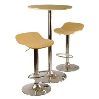 Pc Pub Table And Stools Set In Natural By Winsome Wood P.Number