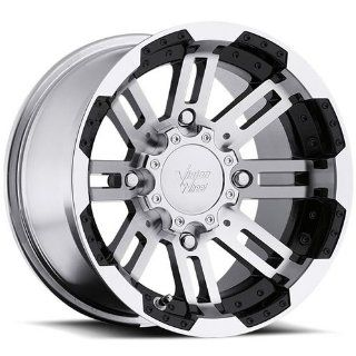 Vision Warrior 14 Machined Black Wheel / Rim 4x110 with a 3.6mm Offset
