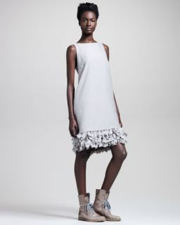 Brunello Cucinelli Butterfly Hem Organza Dress