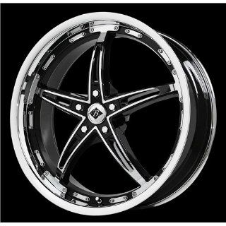 Black Ice Mayhem 17 Chrome Black Wheel / Rim 5x4.5 with a 40mm Offset