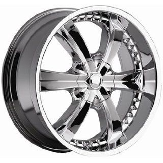 Cattivo 726 22x9.5 Chrome Wheel / Rim 5x4.5 & 5x5 with a 30mm Offset