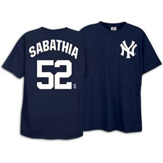 New York Yankees Name and Number T Shirt, Navy