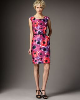 kate spade josie cap sleeve printed dress