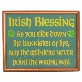 Framed Irish Blessing Handcrafted Wood Sign Funny Humor
