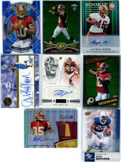 Griffin III RCs Alfred Morris AUTO RC Roy Helu Jr AUTO RC REDSKINS lot