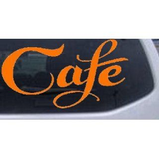 Orange 36in X 19.2in    Cafe Decal Window Sign Business Car Window