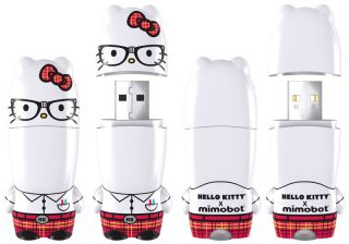 Hello Kitty Nerd Mimobot USB 2 0 Flash Drive 4GB New