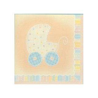 Baby Carriage Baby Shower Napkins   Boy or Girl Baby