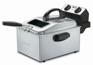 Waring Home Kitchen 1800 Watt 2 1 5 Pound Deep Fryer Brushed Stainless