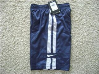 NWT Nike basketball gym active navy blue shorts Kids Youth boys sz 7