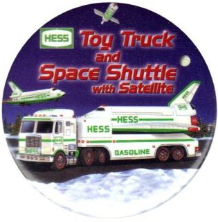Hess Toy Truck Advertising Employee Pin Button 1999 (eighth button