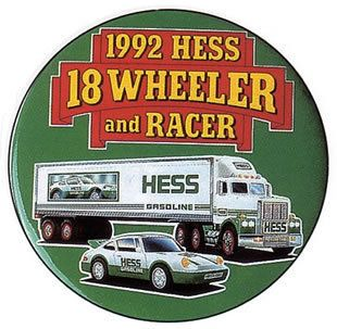 Hess Toy Truck Advertising Employee Pin Button 1992 first button