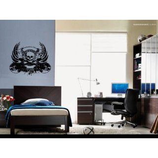 Skull Evil Guitar Wall Decor Vinyl Decal Sticker Mural