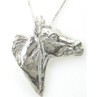 Horse   Quarter Horse   Pendant Necklace in sterling silver on 20 inch