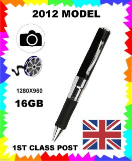 16GB SPY PEN CAM CAMERA VIDEO RECORDER HIDDEN RECORDER EQUIPMENT