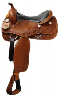 Pleasure/ Trail Saddle by Double T NEW in MED OIL Tack 90 Horse Tack