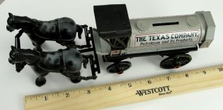 Ertl Toy 1910 Texaco Horse Trailer Bank Die Cast Limited Edition 1 32