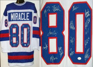 1980 USA Hockey Team Signed Autographed Jersey JSA Witness 15 Players