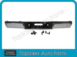 New Rear Step Bumper Assy Chrome Pad Lic Brackets 06 08 Ford F150
