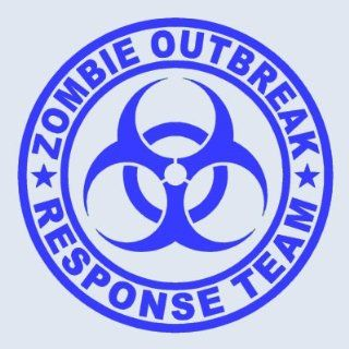 Zombie Outbreak Response Team BLUE 5 Die Cut Vinyl Decal