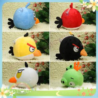 1pc Hot Games Angry Birds Soft Stuffed Plush Toy Dangle