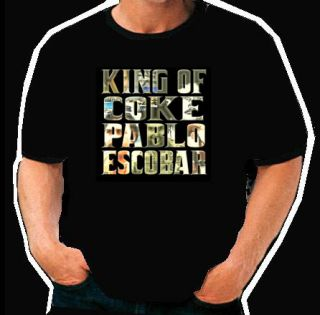 King of Coke Pablo Escobar Colombian Hip Hop T Shirt