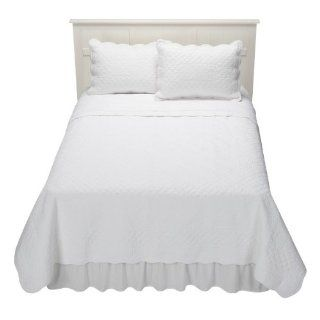 Simply Shabby Chic Cottage White Twin Quilt & Sham Set