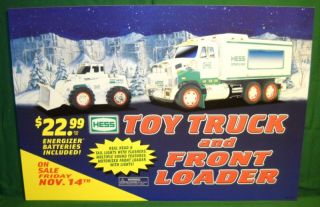 2008 Hess Gas Station Poster for Toy Truck and Front Loader Hard