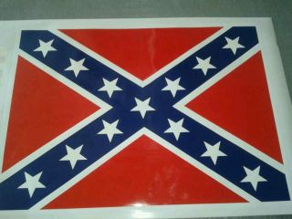 Dukes of Hazzard General Lee Roof Confederate Flag Sticker Decal Kit