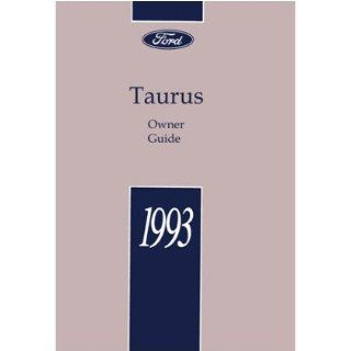 1993 FORD TAURUS Owners Manual User Guide