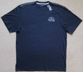 Nautica Navy Premium Big Tall T Shirt Men's $29 50