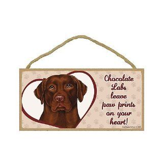 Chocolate Labrador Retriever   leave paw prints on your