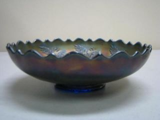 Fenton Holly Carnival Glass Bowl 8 3/8 Diameter x 2 1/2 Tall