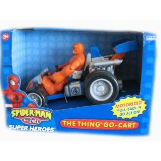 Spider Man & Friends The Thing with Go Cart Toys & Games