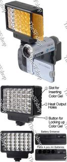 30 LED Video Light for Camera Camcorder Built in Reflec