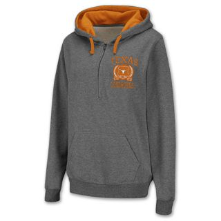 Texas Longhorns Half Zip NCAA Womens Hoodie Grey