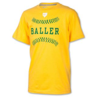 Kids Nike Baller Tee Shirt Varsity Maize