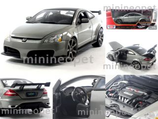Motormax Honda Accord Coupe Custom Tuner 1 18 Diecast Grey