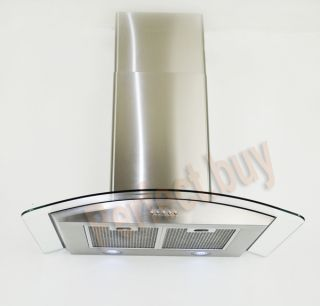 New Europe Exhaust 30 Stainless Steel Glass Wall Mount Range Hood P