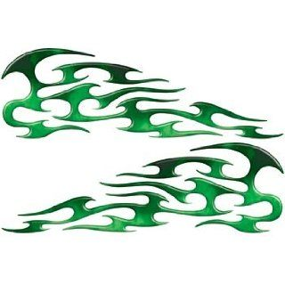 Real Fire Green Tribal Motorcycle Gas Tank Custom