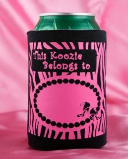 Sexy Hot Pink Zebra Bachelorette Party Can Wrap Koozies