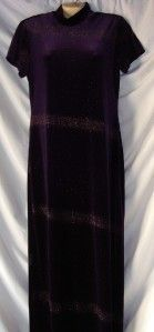 Womens Jessica Howard Purple Velvet Formal Dress 12