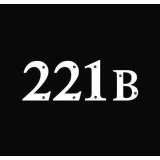 221B Baker Street BBC Sherlock Vinyl Die Cut Decal Sticker